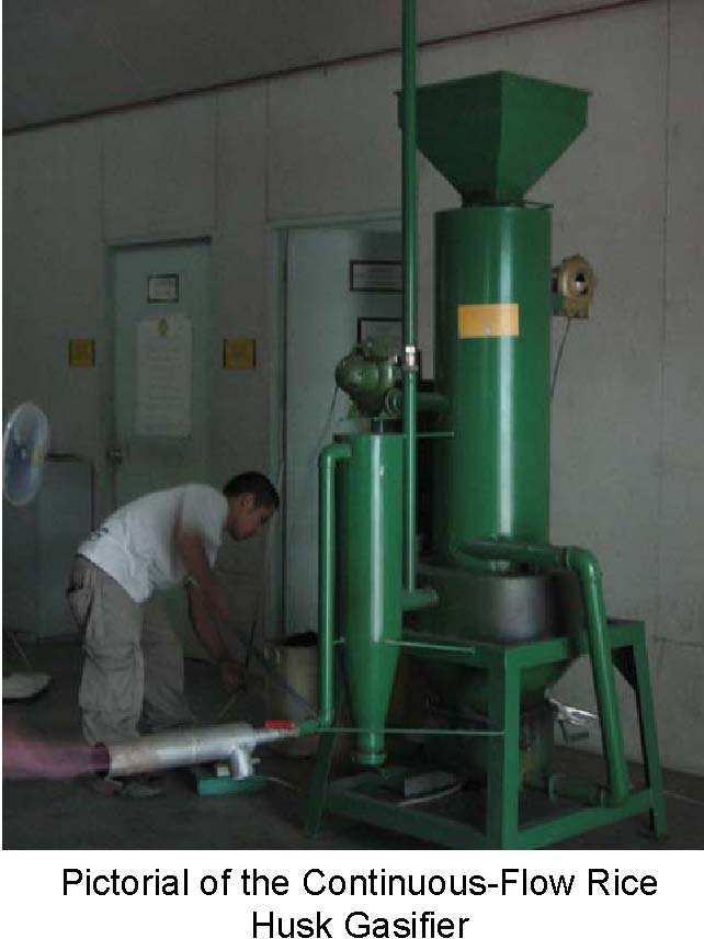 A Continuous Flow Rice Husk Gasifier For Thermal