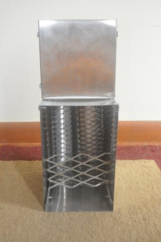 toaster slot briquette stove liner with grate