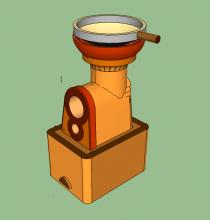 Prototype Holey Roket on a box blatform with a Char pocket