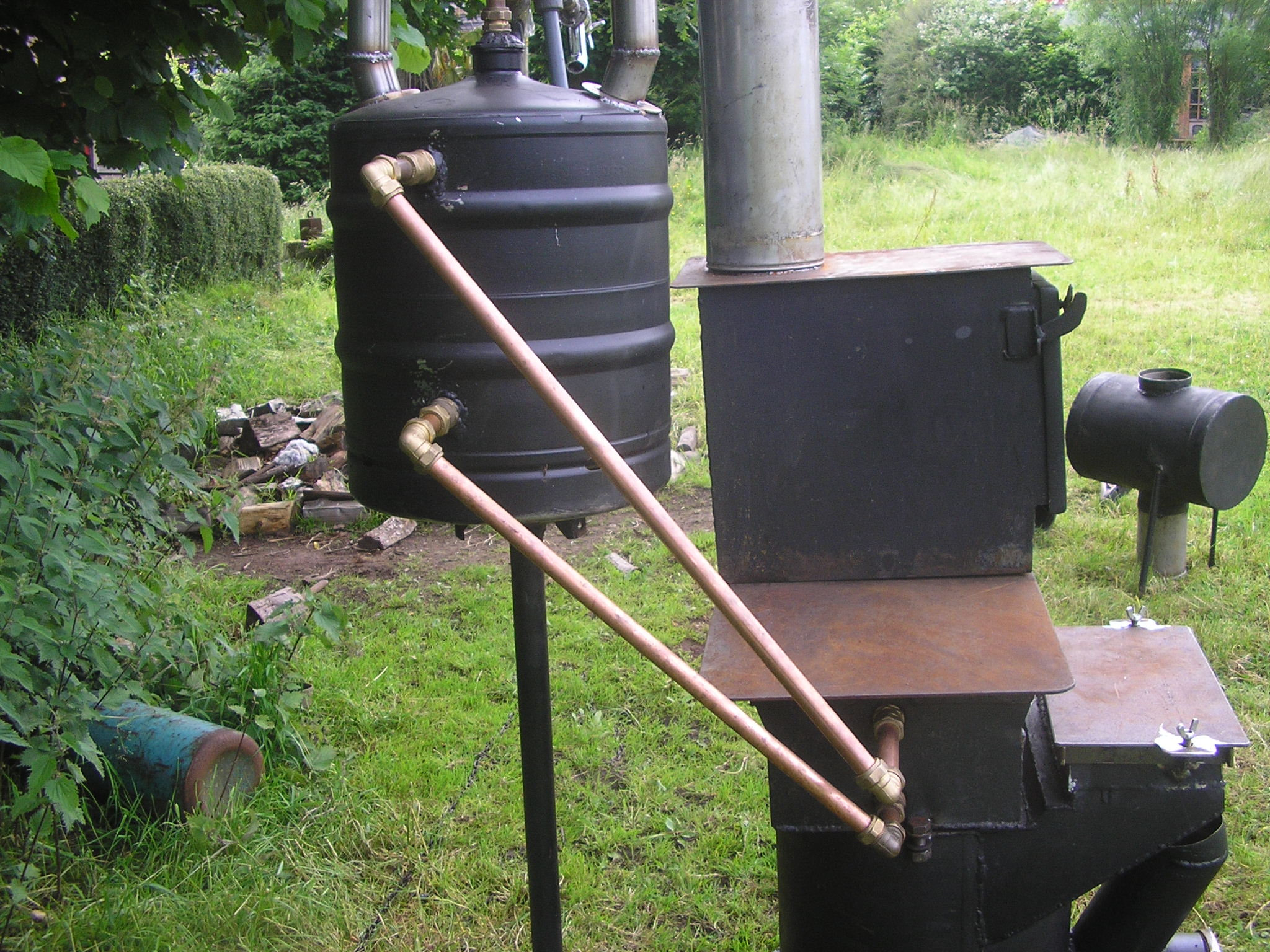Welsh Biochar Making Water Heater Improved Biomass