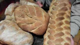 bread baked in the TLUD oven