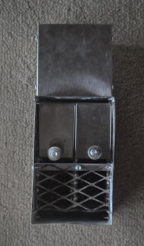 toaster slot briquette stove liner with door flaps front