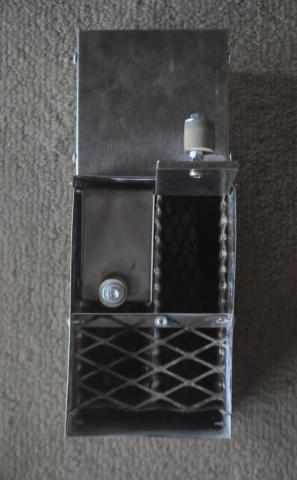 toaster slot briquette stove front one door flap open