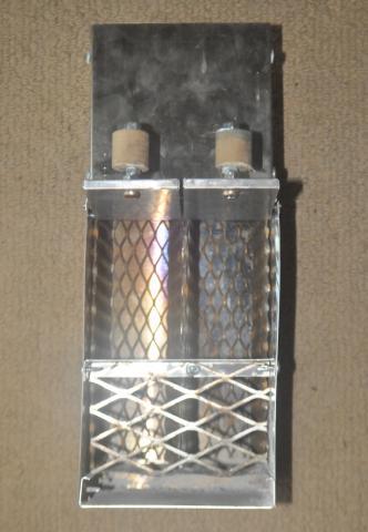 toaster slot briquette stove doors open