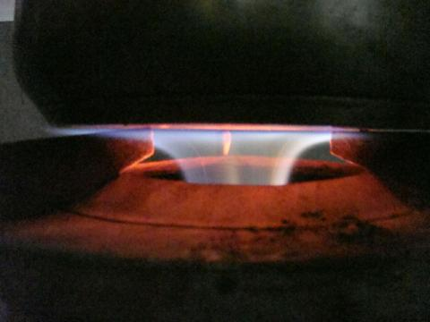 "Close up of Medium gas cooker""Vietnam Magic Fire'"
