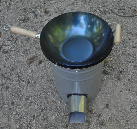 wocket stove with wok