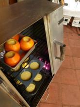 baking orange cake in oranges
