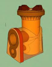 Holey Roket Stove - Drawing (side)