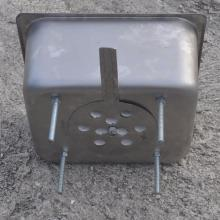 steam pan charcoal stove side bottom view