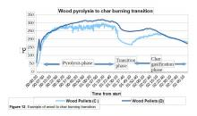 Wood Pyrolysis to Char burning transition